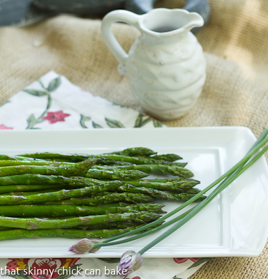 picture - Asparagus with balsamic butter