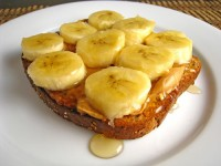 Banana-honey toast