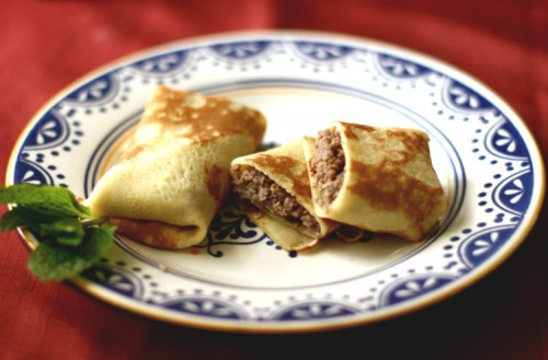 picture - Pancakes with meat is the best for loved ones