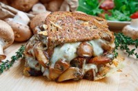 Sandwich-grilled with mushrooms and cheese