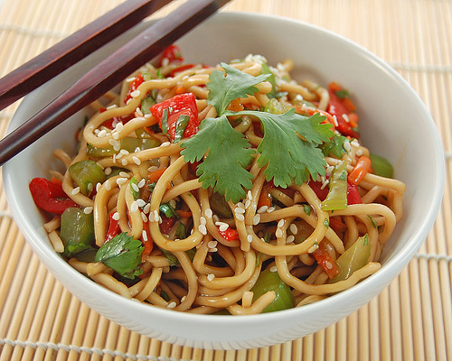 Quick and easy salad of noodles