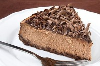 Cheesecake with Baileys liqueur chocolate