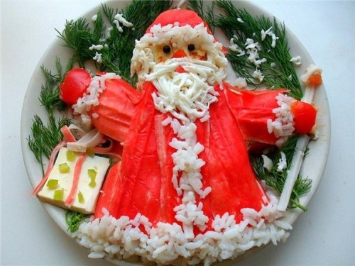 Santa Claus: Christmas salad of winter owner