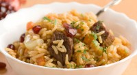 Children pilaf with beef