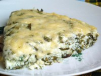 Diet omelette with herbs and goat cheese