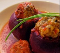 Stuffed vegetables beets