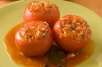 Stuffed carrots canned tomatoes