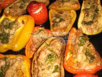 Stuffed vegetables, baked in the oven