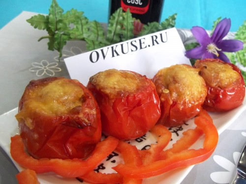 picture - Stuffed tomatoes with ground beef