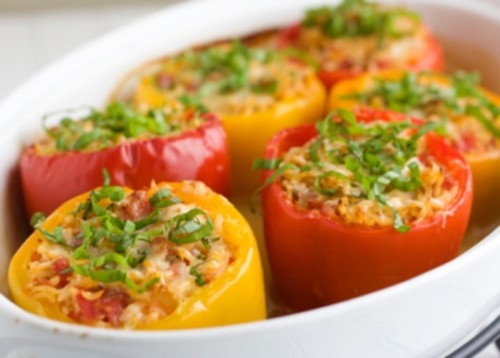 Stuffed peppers - harvests in store
