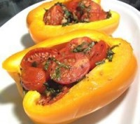 Stuffed tomatoes peppers