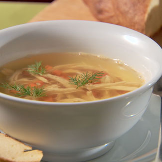 Fish broth with dumplings, video recipe