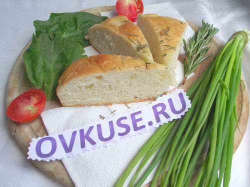 Focaccia with rosemary recipe with photo