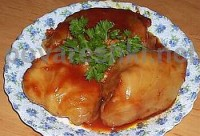 Meatless stuffed cabbage and celery