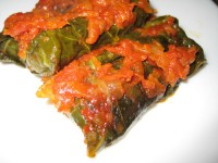Stuffed cabbage with mushrooms and cabbage kohlrabi