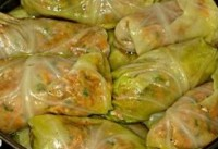 Stuffed cabbage with chicken