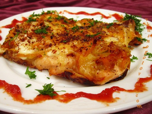 picture - Salmon baked in the oven