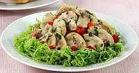 Hot appetizer with mushrooms