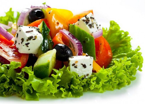 Greek salad - different options for every taste