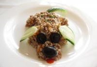 Buckwheat porridge with beef and vegetables