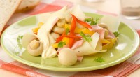Mushroom salad with sweet peppers