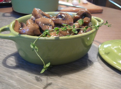 picture - Mushrooms in mustard marinade