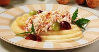 Pear salad with cream soft cheese
