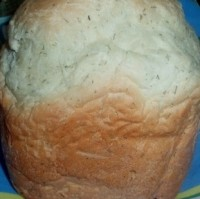 picture - Wheat bread with watercress