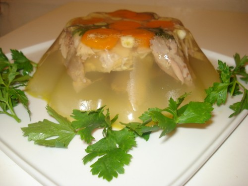 Jelly - recipe homemade aspic
