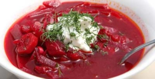 Cold borscht in Stavropol