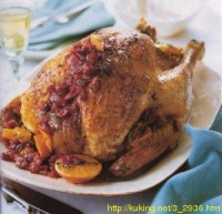 picture - Turkey with cranberry and orange
