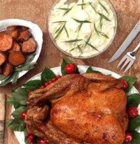 picture - Turkey with citrus glaze