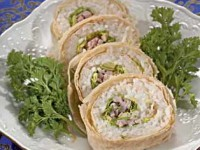 picture - Egg roll with rice
