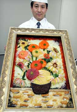 Van Gogh's painting can... eat! It is made of sushi