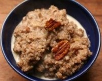 Buckwheat porridge with dried pears and prunes