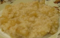 Rice porridge with pears