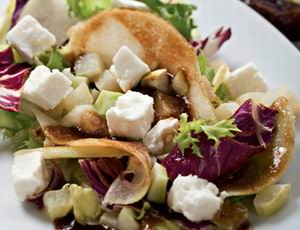 Kohlrabi with feta and dates