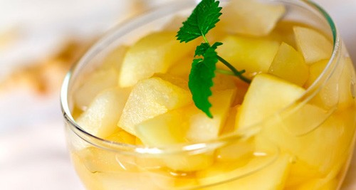 The pear compote