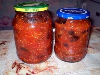 Canned eggplant in tomato sauce