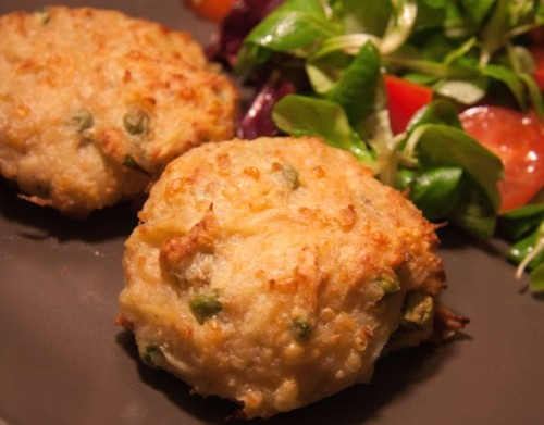 Cutlets of chicken with cheese and potatoes