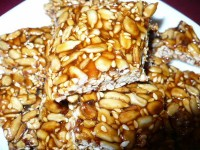 Kozinaki with sesame seeds and sunflower seeds
