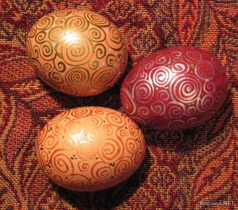 Colored eggs. Easter