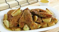 Braised chicken with bananas