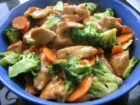Braised chicken with broccoli