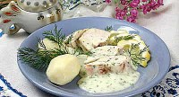 Chicken in dill sauce