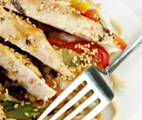 Chicken fillet with sesame