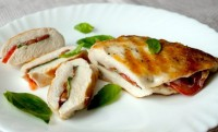 Chicken breast with basil and tomatoes