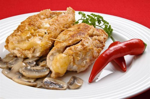 Chicken cutlets stuffed with liver