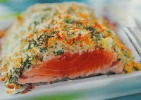 Salmon with potato crust