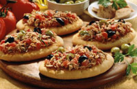Mini pizza with tuna fast
